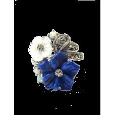 bague rétro - Lapis Lazuli & Nacre