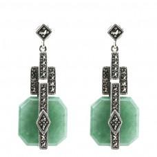 Boucles d'oreilles rétro - Jade