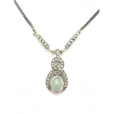 collier rétro - Jade