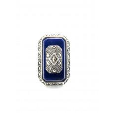 bague rétro - Lapis Lazuli
