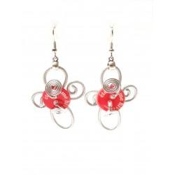 Antonia - boucles d'oreilles rouge